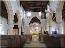 TF5315 : Church of St. John, Terrington, interior looking east by Jonathan Thacker
