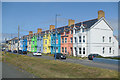 SN6090 : Colourful Houses at Borth by Des Blenkinsopp