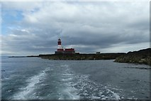 NU2438 : Sailing away from Longstone by DS Pugh