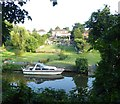 TQ7353 : Large gardens alongside the River Medway by Marathon