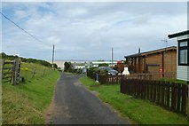 NU1535 : Entering the holiday park by DS Pugh
