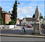 SU1660 : Back of the King Alfred the Great monument, Market Place, Pewsey by Jaggery