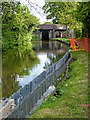 SJ9214 : New towpath piling in Penkridge, Staffordshire by Roger  Kidd