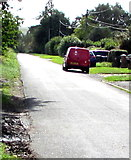 SU1659 : Red Royal Mail van, Green Drove near Pewsey by Jaggery