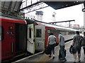TQ3083 : Boarding at platform 1 by Bob Harvey