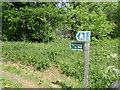 ST7270 : Signpost for the Cotswold Way at Lansdown by Eirian Evans