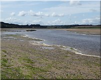 NU1535 : Waren Burn flowing into Budle Bay by Russel Wills