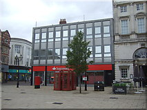 SJ9223 : Santander Bank on Market Square, Stafford by JThomas