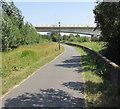 SS5433 : East towards Taw Bridge, Barnstaple by Jaggery