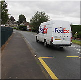 ST3091 : FedEx UK van, Almond Drive, Malpas, Newport by Jaggery