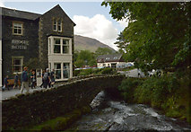 NY1716 : The Bridge Hotel and Mill Beck, Butteremere by habiloid
