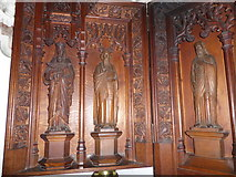 TQ1068 : St Mary, Sunbury-on-Thames: reredos detail (a) by Basher Eyre
