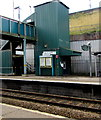 SO1500 : Bilingual direction signs on platform 2, Bargoed railway station by Jaggery