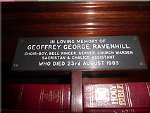 TQ1068 : St Mary, Sunbury-on-Thames: memorial (10) by Basher Eyre