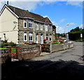 ST1598 : Stone semis, Gwerthonor Road, Gilfach by Jaggery