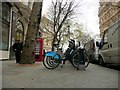 TQ3080 : Boris Bike rack, Northumberland Avenue by Colin Cheesman