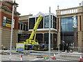 SJ7796 : Crane at Barton Square by Bob Harvey