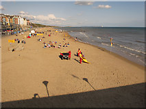 SZ1191 : Boscombe beach with lifeguards by David Hawgood