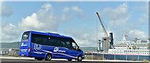 J3576 : Irish Day Tours minibus, Titanic Quarter, Belfast (August 2019) by Albert Bridge