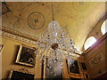 ST9701 : Kingston Lacy saloon, chandelier, ceiling, paintings by David Hawgood