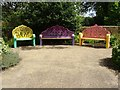 SP0789 : Seats in the gardens of Aston Hall by Philip Halling