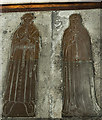 SP1114 : Brass to Thomas Adynet (probably) and wife, Northleach church by Julian P Guffogg