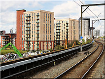 SJ8297 : New Buildings near Cornbrook Station by David Dixon
