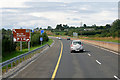 S1486 : M7 Westbound, approaching Junction 22 by David Dixon