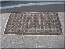 SH4862 : Pavement light on Pool Street, Caernarfon by Meirion