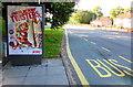 ST3089 : KFC Fingerlickin' Twisters advert on a Malpas Road bus shelter, Newport by Jaggery