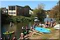 TQ8327 : Canoes and wake boarders at River Rother by Oast House Archive
