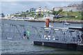 SX4853 : Mount Batten Ferry Pontoon by Stephen McKay