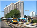 ST1876 : Local services at Cardiff Queen Street station by Gareth James