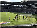 SP8735 : MK Dons 0 - 4 Peterborough United - an English Football League 1 match played on 24 August 2019 by Richard Humphrey