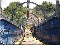 TQ2181 : Footbridge over London Overground railway, Acton by David Hawgood