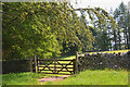 NT4329 : Gate near Fox Covert plantation by Jim Barton