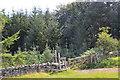 NT4328 : Gate and stile, Traquair Plantation by Jim Barton