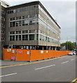 ST3088 : Long orange fence, Mill Street, Newport by Jaggery