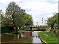 SK1509 : Canal footbridge at Huddlesford Junction, Staffordshire by Roger  Kidd