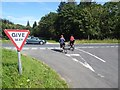 SE5282 : Cyclists at Hambleton by Oliver Dixon