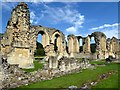 SE5478 : Byland Abbey ruins by Oliver Dixon