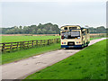 SD3627 : Bus in the Grounds of Lytham Hall by David Dixon