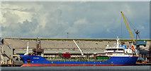 "J3576 : The ""Oralora"", Belfast harbour (August 2019) by Albert Bridge"