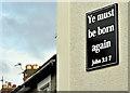 J3773 : Biblical message, Ballyhackamore, Belfast (September 2019) by Albert Bridge