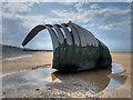 SD3143 : Cleveleys Beach, Mary's Shell by David Dixon