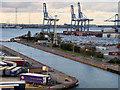 TQ6275 : Entrance Lock, Port of Tilbury by David Dixon