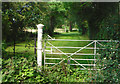 SO8731 : Old Gate to Forthampton Court by Des Blenkinsopp