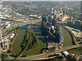 TQ3980 : Bow Creek from the air by Thomas Nugent