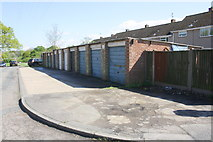 SP8788 : Garage block on east side of Brinsley Green by Phil Richards