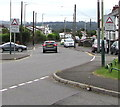 ST1496 : Warning signs - humps for 270 yards, Hengoed Avenue, Cefn Hengoed by Jaggery